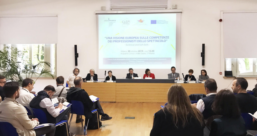 "A EUROPEAN VISION OF THE SKILLS OF SHOW PROFESSIONALS ""- Technical and Soft Skills – 30TH October 2019"